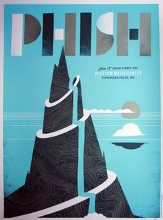 Phish by The Silent Giants and Us & Them Phish Posters, Omg Posters, Concert Posters, Colorful Interior Design, Colorful Interiors, Phish Food, Blossom Music Center, Cuyahoga Falls, Poster Series