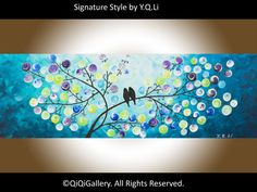 Romantic Painting Abstract Painting Landscape por QiQiGallery, $185.00