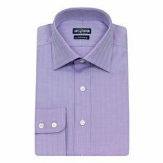 Chemise coupe classique en Chevron parme #chemise http://www.cafecoton.fr/chemises/10429-chemise-coupe-classique-en-chevron-parme.html