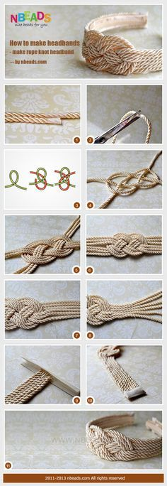 Materials and Tools: Braiding cord Small strip of fabric Sewing threads Needle Sticky tape Headband Hotglue gun Glue stick Scissors More info and instructions about this great tutorial you can find in the source url - above the photo. diyfuntips.com is a collection of the best and most creative do it yourself projects, tips and […]