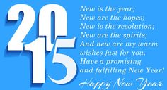 New Year 2015 wishes HD wallpaper