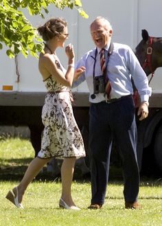 Kate Middleton attends a polo match at Rundle Cup Polo in Tidworth, July 15, 2006.