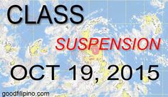 Department of Education (DepEd) announces the areas where the classes are suspended due to super typhoon Lando. PAGASA already advised the public to have a safety precautions during this bad weather. October 19, Announcement, Education, Onderwijs, Learning