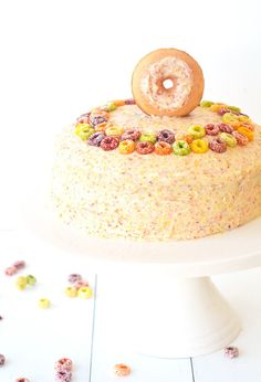 Fruit Loop Cereal Milk Layer Cake