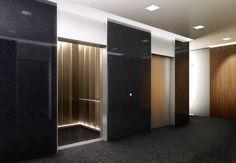 solid panel surrounds around elevator