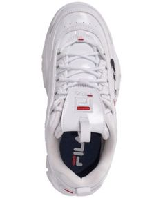 9de8976e8d0 Fila Boys  Disruptor Ii Print Casual Athletic Sneakers from Finish Line -  WHITE NAVY RED 3.5