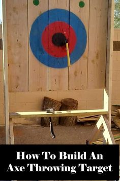 Throwing Knife Target, Knife Throwing, Diy Archery Target, Weekend Projects, Diy Projects, Outdoor Shooting Range, Pumpkin Patch Party, Diy Knife, Carpentry Skills