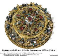 Heftel.Melchior Hermann. Hermannstadt cca 1670. Ag.11,8 cm. Gebracht: Georg Schoenpflug von Gambsenberg