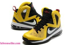 Nike Basketball Lebron 9 Shoes P.S Elite Taxi Varsity Maize Black White  516958
