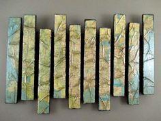 Map Artwork - Wooden Wall Sculpture - Pallet Art - Map Wall Hanging - Wood Art Installation - Abstract Wood Sculpture - Abstract Wall Art - pinned by pin4etsy.com