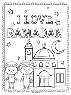 Ramadan Cards, Eid Cards, Islamic Books For Kids, Islam For Kids, Activities For Kids, Worksheets For Kids, Sight Word Flashcards, Colouring Pages, Rainbow Cheesecake
