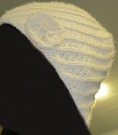 White stocking cap, Novita Tempo (BB-Tiina  imitation)