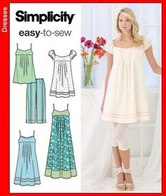 Vintage Sewing Patterns Simplicity 3739 from Simplicity patterns is a Mini Dress sewing pattern - Tunic Sewing Patterns, Simplicity Sewing Patterns, Vintage Sewing Patterns, Clothing Patterns, Dress Patterns, Nightgown Pattern, Tunic Pattern, Petite Dresses, Trendy Dresses