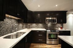kitchen black and grey