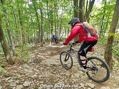 Blue Mountain - DH MTB Trail - Ontario Bike Trails Mountain Resort, Mountain Biking, Wooden Ramp, Minion S, Mtb Trails, Trail Guide, Full Face Helmets, Blue Mountain, Bmx