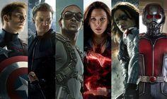 Civil War: Team Cap  Hawkeye and Black widow not in the same team! :'(