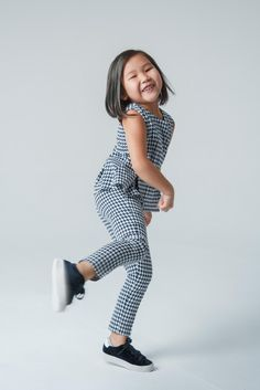 Our model is tired of dresses, but she always wants to lool like from fashion magazines. The costume 12:09:00 from #12pm is an ideal solution. #kidsfashion #kidsclothes #girlscloth #girlsdresses #trendykids