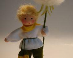 Blowball ragazzo - bambino di fiore - Waldorf ispirato - tabella di natura
