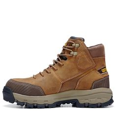 Caterpillar Men's Device Medium/Wide Waterproof Composite Toe Work Boots (Dark Beige Leather) - W Comfortable Steel Toe Boots, Men's Shoes, Shoe Boots, Composite Toe Work Boots, Mens Boots Fashion, Dark Beige, Hiking Boots, Combat Boots, Caterpillar