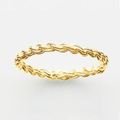 Rope Ring in Gold Plate  http://pinkloulou.com/pink-loulou-entwined-1/Rope-Ring-in-Gold-Plate-Small