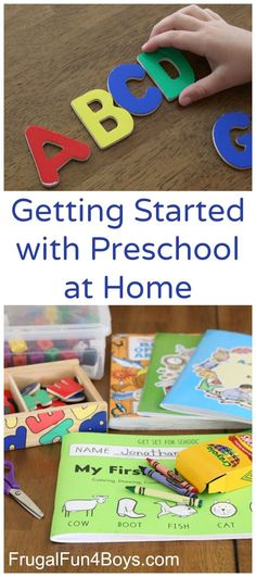 Getting Started with Preschool at Home - What skills to cover, how much time to spend, and recommended books and materials. So helpful!