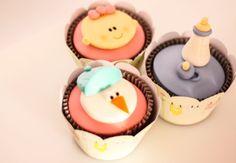 Cupcakes fofos para chá de bebê ou maternidade