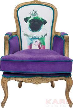 Villa Sessel Grandfather Mops Purple #purple #lila #kare #design #Kreativität #wien