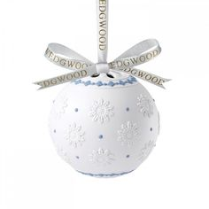 Wedgwood Christmas: Decorative Orb 11cm (€69) ❤ liked on Polyvore featuring home, home decor, holiday decorations, christmas holiday decor, christmas home decor, wedgwood and christmas holiday decorations