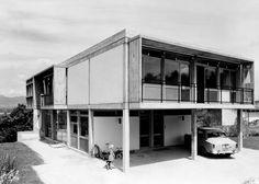 Villa Jeanneret-Reverdin Ch. des Princes, Cologny, Genève. 1955-1956. Modern Architecture House, Architecture Design, Prince, Villa, Le Corbusier, Mid Century Style, Midcentury Modern, Bungalow, House Styles