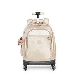 de1e379ca Echo II Metallic Rolling Backpack - Sparkly Gold Mochila Feminina,  Feminino, Mochila De Rolamento