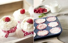 Cupcake N° 4: RasberrySwirlCheesecake & Lesefutter N° 7: DAS Cheesecakebuch   Les Tissus Colbert