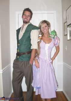Natalie: I made these costume for my husband and myself. Everyone always has told my husband that he looks like the Disney character Flynn Rider from Tangled. I used that as...