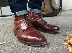 Tricker's Mogano shell cordovan Herman boots by SF user scrwl.