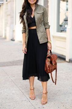 Aritzia skirt // Marissa Webb top // Banana Republic jacket // Dogeared necklace // Proenza Schouler bag // Brian Atwood heels