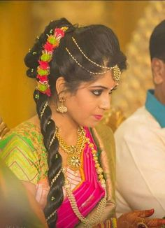 To get one for yourself or for your friends and relatives for their wedding kindly contact 8779268166 . Indian Bridal Hairstyles, Bride Hairstyles, Hairstyles Haircuts, Hairstyle Ideas, Beautician Course, Flower Hair Accessories, Flower Jewelry, Hair Designs, Blouse Designs