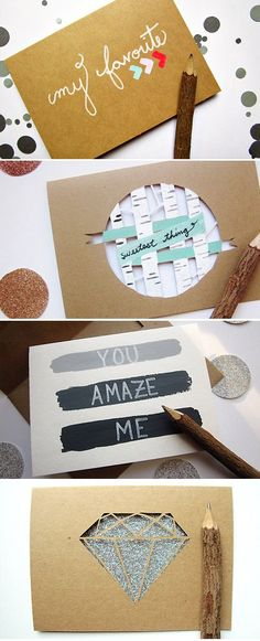 Handmade greeting cards on Pretty Paper Things