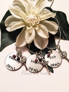 Hand stamped drill team necklace drill drill team by PENNISPRINTS