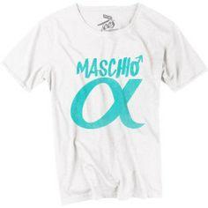 T shirt uomo - Maschio Alpha - bianca/azzurra