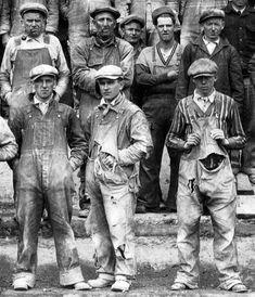 a motley looking crew in denim