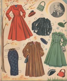 Two punch-out paper dolls, and eight pages of beautiful outfits and accessories to cut-out. Cut-Out Dolls BOOK. Barbie Paper Dolls, Paper Dolls Book, Vintage Paper Dolls, Vintage Sewing, Beautiful Dolls, Beautiful Outfits, Date Dress Up, Paper Art, Paper Crafts