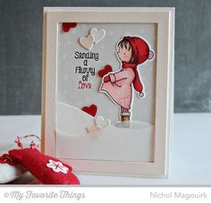 Christmas or Valentines Day Card My Favorite Things - Dies, Stamps, & Inks {Cute Card w Video Tutorial} | nichol magourik