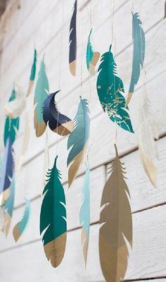 21 восхитительная идея декора с помощью бумажных гирлянд. Просто, быстро, бюджетно и невероятно красиво!