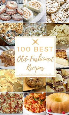 From sour cream donuts to old fashioned goulash and hot milk cake, there are over 100 old fashioned recipes for every meal. 100 Best Old Fashioned Recipes 100 Best Old Fashioned Recipes Amish Recipes, Old Recipes, Cookbook Recipes, Southern Recipes, Cooking Recipes, Southern Food, Cheap Recipes, Healthy Recipes, Southern Desserts