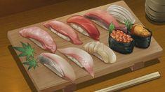 Persona 5 The Animation - Episode 13 Gourmet Recipes, Real Food Recipes, Cute Food, Yummy Food, Anime Kunst, Food Cartoon, Kawaii, Food Drawing, Healthy Protein