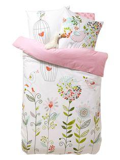 housse de couette fille mille plumes rose imprime vertbaudet enfant in my bed pinterest. Black Bedroom Furniture Sets. Home Design Ideas