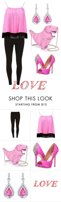 """Pink and more pink!"" by ashleyhuang68 ❤ liked on Polyvore featuring Dorothy Perkins, Boohoo, Kate Spade, Badgley Mischka and WALL"