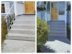 Instead of painting your stairs and creating a slippery surface, consider rubber paving : ) www.greentechresurfacing.com
