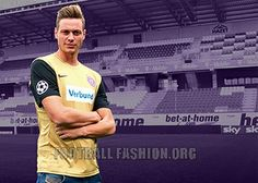 FK Austria Wien 2013/14 Nike Third Kit Football Shirts, Sports Shirts, Fk Austria Wien, Football Fashion, Nike Gold, Uefa Champions League, Third, Kit, Baseball Cards