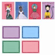 Djeco Einladungskarten Kindergeburtstag kokette Mädchen mit Umschlägen - Bonuspunkte sammeln, Kauf auf Rechnung, DHL Blitzlieferung!