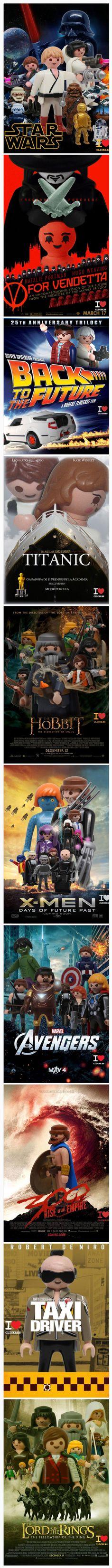 Carteles de películas con playmobil. #humor #risa #graciosas #chistosas #divertidas